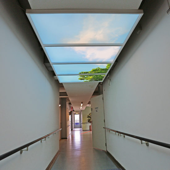 Gang- Daglicht wolkenplafond - Skylight panels-1280