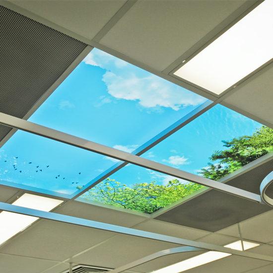 Wolkenplafond met daglicht simulatie -Decoratief Systemplafond - BNI-800px